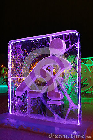 Free PERM, RUSSIA - JAN 11, 2014: Illuminated Curlers Character Stock Photography - 37519482