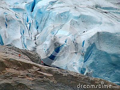 Permafrost. Glacier Briksdalsbreen