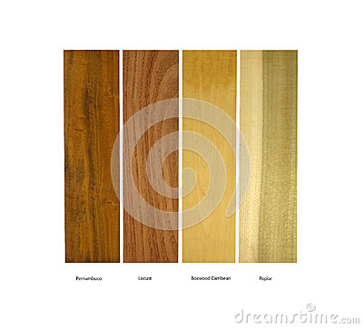 Free Pernambuco,Locust,Boxwood And Poplar Wood Samples Stock Photography - 36849792