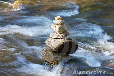 perpetual stream with tower