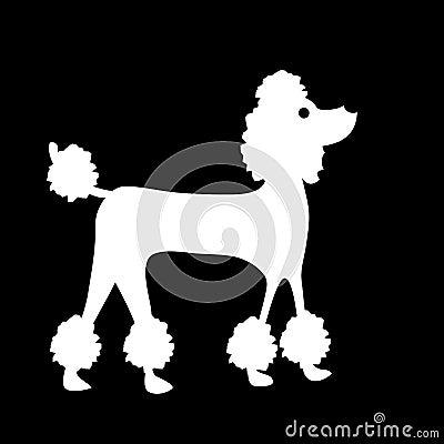 Perro de caniche francés divertido