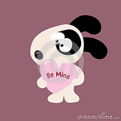 Perro de la tarjeta del día de San Valentín