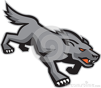Perro salvaje Wolf Stalking Retro