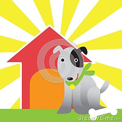 Perro y casa