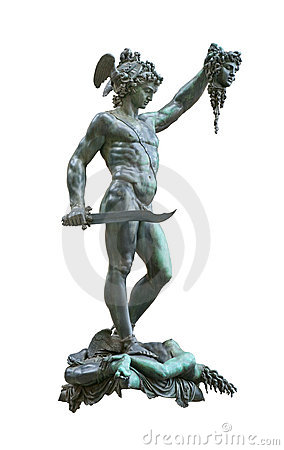 Perseus holding head of Medusa