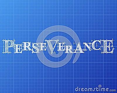 Perseverance word blueprint cartoon vector cartoondealer 99741387 perseverance word blueprint cartoon vector malvernweather Gallery