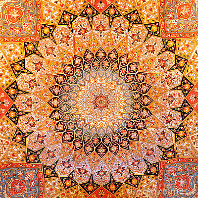 Persian Carpet Design Royalty Free Stock Photo Image