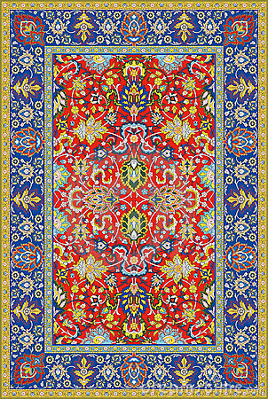Persian detailed vector carpet