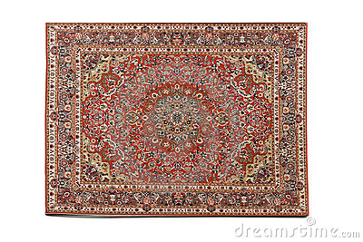 Persian Rug isolated on white background
