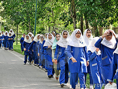 Persian shool girls Editorial Image