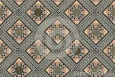 Persian Tiles Wallpaper Stock Photo Image 31883550