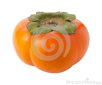 Persimmon Isolated with clipping path