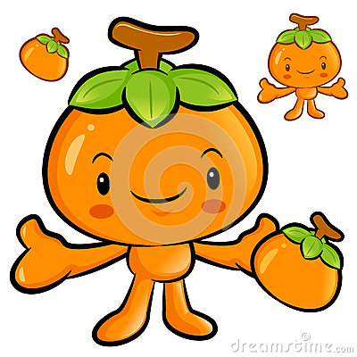 The Persimmon mascot has been welcomed with both hands. Fruit Ch