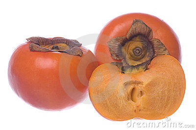 Persimmons Isolated