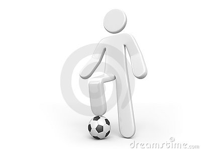 Person and the ball