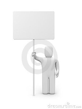 Person with billboard