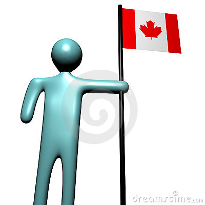 Person with Canadian Flag