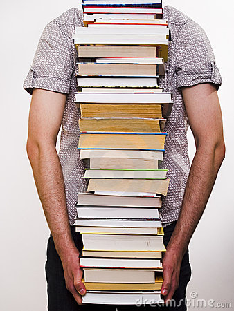 Person carrying books