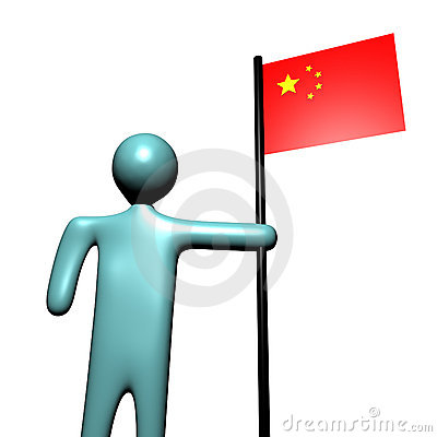 Person with Chinese Flag