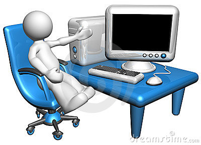 Person with a computer