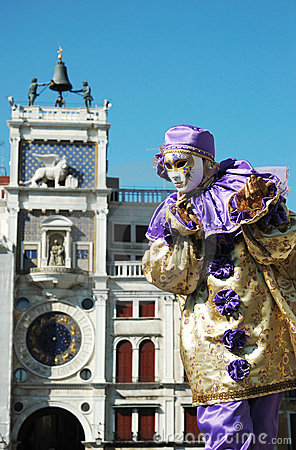 Person in costume at Carnival of Venice 2011 Editorial Stock Photo