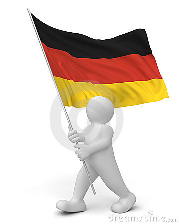 Person with German flag