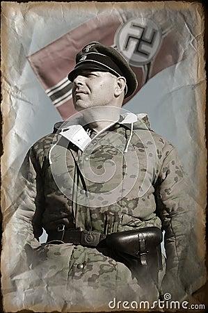 Person in German WW2 military uniform.
