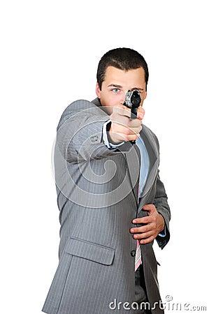 Person with a gun