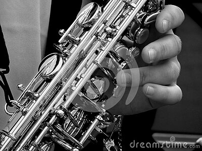 Person Holding Saxophone In Gray Scale Photography Free Public Domain Cc0 Image