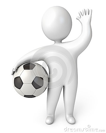 Person holding a soccer ball