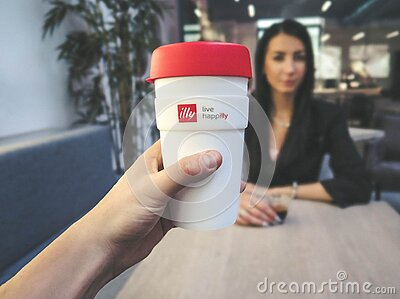 Person Holding White And Red Live Happilly Cup Free Public Domain Cc0 Image