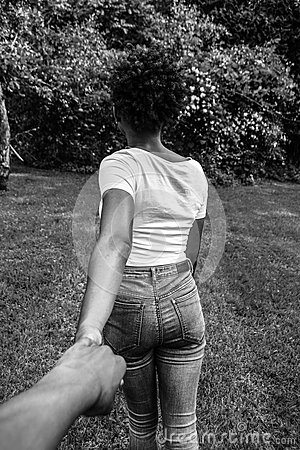 Person Holding Woman's Hand From Behind In Grayscale Photography Free Public Domain Cc0 Image