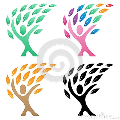 Free Person Life Tree Logo Vector Illustration Group Royalty Free Stock Photography - 100403947