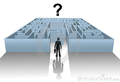 Person Maze search for business solution