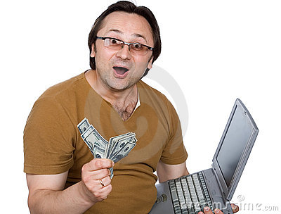 The person, money, a computer