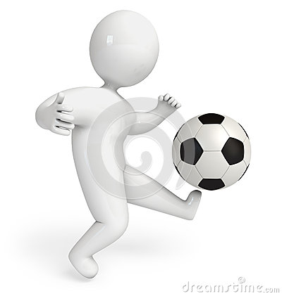 Person playing football