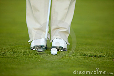 Person playing golf