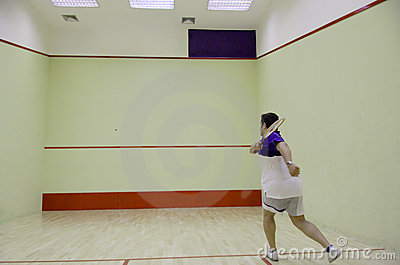 Person playing squash