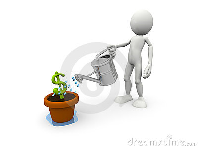 Person pouring Dollar Symbol