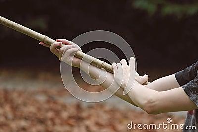 Person practicing Tai Chi