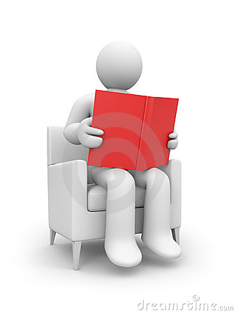 Person read the book