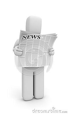 Person read newspaper