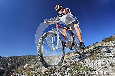 person riding a bike stock photos image 11398733