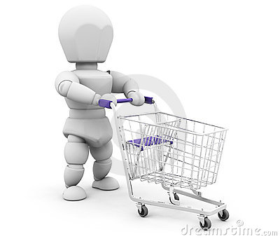 Person with shopping trolley