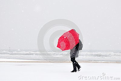 Person in the snow