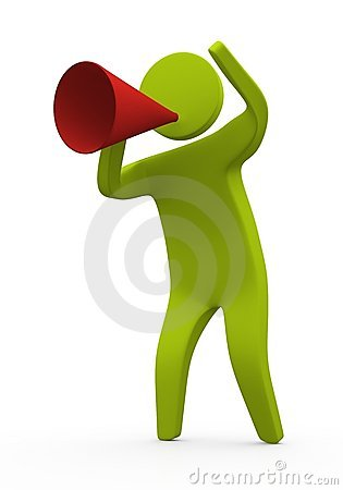 Free Person Speaking Using Megaphone Stock Photography - 13970312