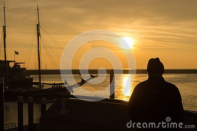 Person Standing On Dock During Sunset Free Public Domain Cc0 Image