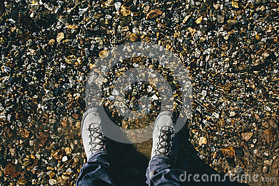 Person Standing Taking A Photo Of His Feet And The Ground Free Public Domain Cc0 Image