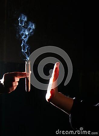 Free Person Stop Smoking Royalty Free Stock Photos - 9785908