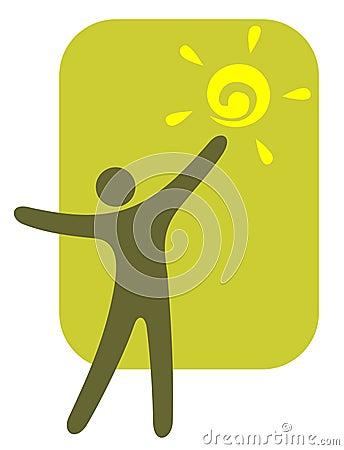 Person and sun